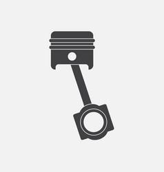 Black icon on white background car piston movement vector
