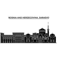 bosnia and herzegovina saraevo architecture vector image