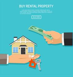 Buy rent real estate vector