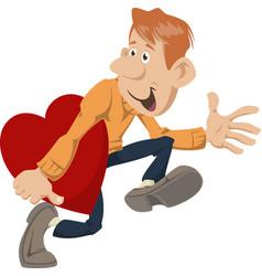Cartoon hearts burglar funny people vector