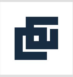 cg eg gg initials geometric letter company logo vector image