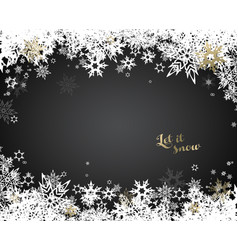 Christmas dark background with white and golden vector