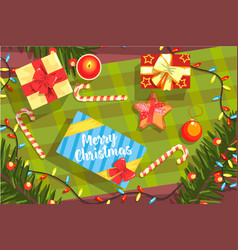 Christmas presents colorful with vector