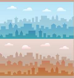 city skyline two urban vector image