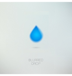 Clean pure water drop vector image