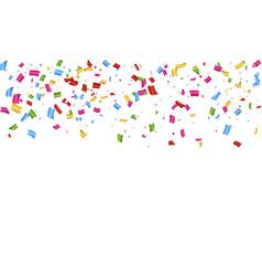 confetti falling down vector image