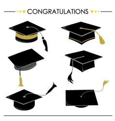 Congratulations Hat Graduation vector image