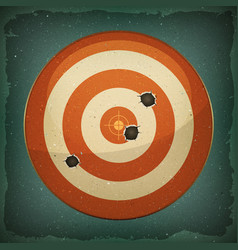 Dart target with bullets shot vector