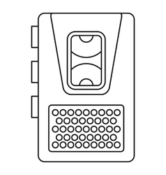 Dictaphone icon outline style vector image