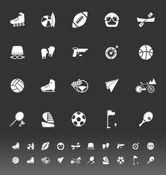 Extreme sport icons on gray background vector