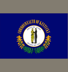 Flag kentucky usa vector