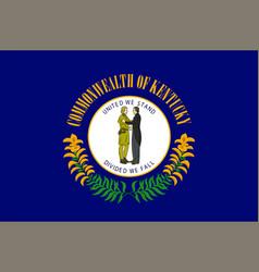 flag of kentucky usa vector image
