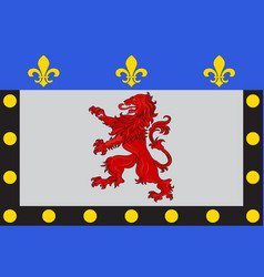 Flag of poitiers in vienne of lot-et-garonne of vector