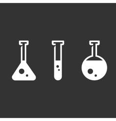 Flasks logo on black background icon vector image