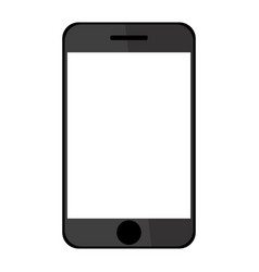 flat phone white screen drawing vector image