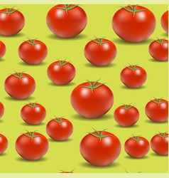 Fresh red tomato pattern vector