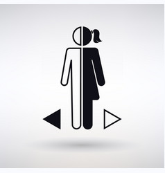 Gender differences icon vector