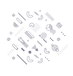 geometric shapes trendy graphic elements for vector image