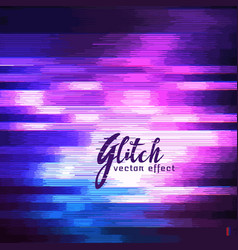 glitch effect of image corruption vector image