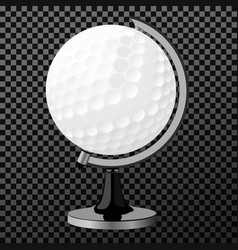 Golf boll golf globe isolated over vector