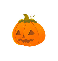 halloween pumpkin lantern with triangular eyes vector image