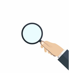 Hand with magnifying glass concept of searching vector