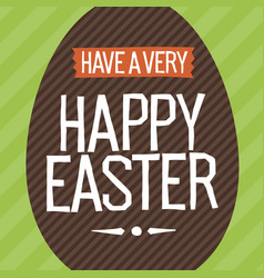 Happy easter everyone easter egg vector