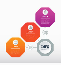 Infographic technological or education process vector