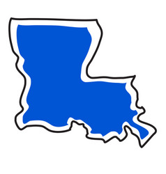 Isolated map of the state of louisiana vector