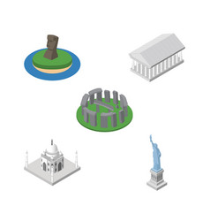 Isometric attraction set of england athens chile vector