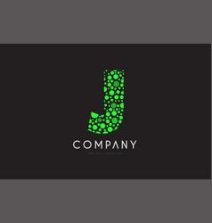 j letter bubble green logo icon design vector image