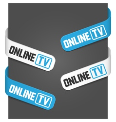 left and right side signs - online tv vector image vector image