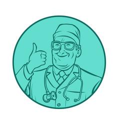 leinart graphics doctor thumb up gesture vector image