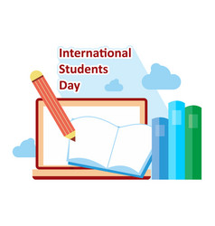 literacy day book international library banner vector image