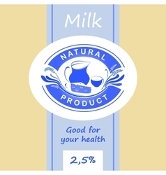 Logo and labels for dairy products Editable vector