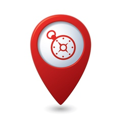 Map pointer with compass icon vector image