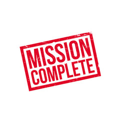 Mission complete rubber stamp vector