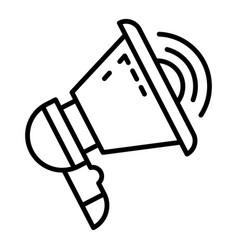 modern bullhorn icon outline style vector image