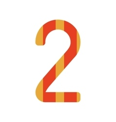 Number two design with colorful striped vector