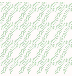 Pastel leaves intertwined seamless pattern hand vector