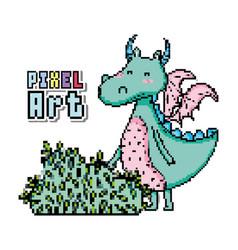 pixel art fantasy cartoon vector image