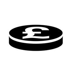 pound sterling coin icon vector image