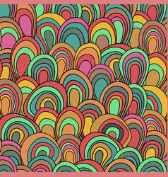 Psychedelic waves seamless pattern vector