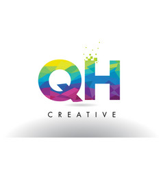 qh g h colorful letter origami triangles design vector image