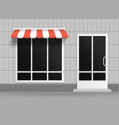 realistic 3d detailed store building facade vector image