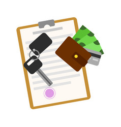 rent car business concept with car key vector image
