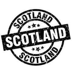 scotland black round grunge stamp vector image