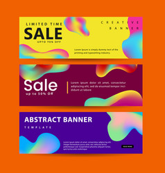set abstract modern graphic liquid banners vector image
