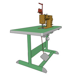 Sewing machine parts or color vector