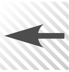 Sharp left arrow icon vector